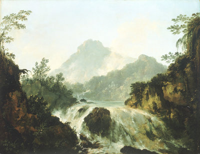 A cascade in the Tuaruru Valley, Tahiti by William Hodges - print
