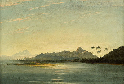 View of the island of Otaha and Bola Bola with part of the island of Ulietea by William Hodges - print