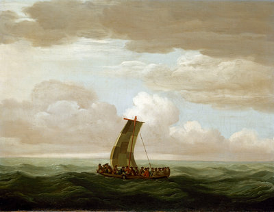 Escape from the Luxborough galley by John Cleveley, the Elder - print
