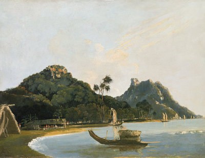 View of part of Owharre [Fare] harbour, island of Huahine by William Hodges - print
