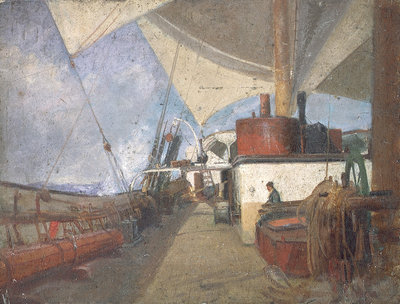 Deck scene on the 'Iquique' by John Everett - print