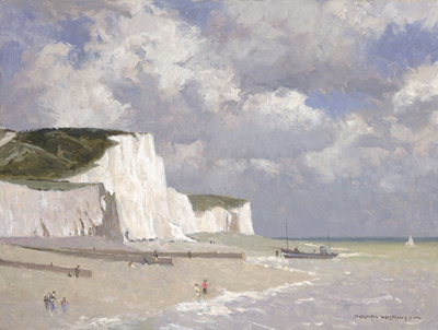 Chalk cliffs at Rottingdean by Norman Wilkinson - print
