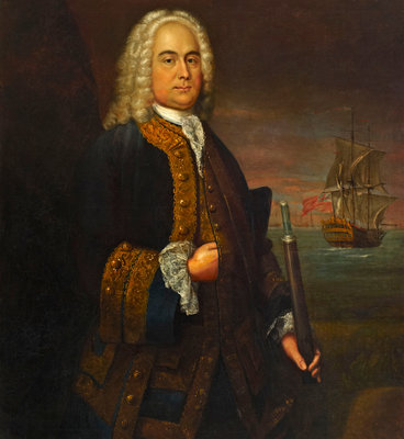 Commodore Curtis Barnett (1696-1746) Wall Art & Canvas Prints by John Ellys