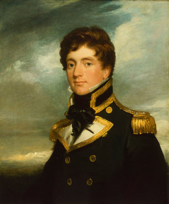 Captain Frederick William Beechey (1796-1856) by George Duncan Beechey - print