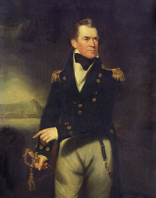 Captain Sir George Ralph Collier (1774-1824) by William Beechey - print