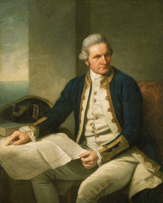 Captain James Cook (1728-1779) by Nathaniel Dance - print