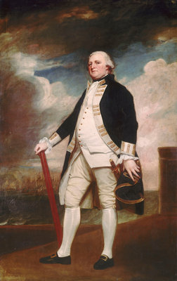 Vice-Admiral George Darby (circa 1720-1790) by George Romney - print