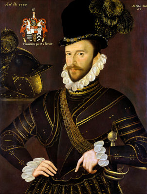 Richard Drake (1535-1603) Fine Art Print by George Gower