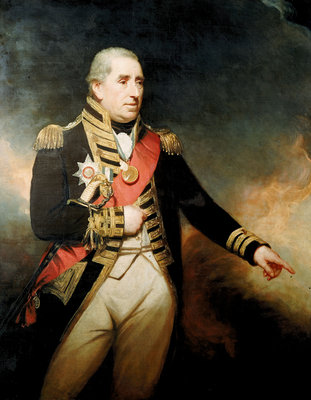 Admiral Sir John Thomas Duckworth (1748-1817) by William Beechey - print