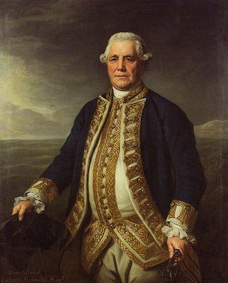 Admiral Richard Edwards (1715-1795) by Nathaniel Dance - print