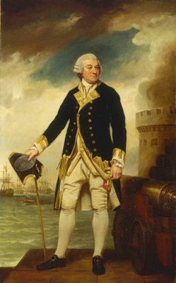 Admiral Sir Francis Geary (1709/10-1796) by George Romney - print