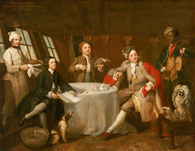 Captain Lord George Graham in his Cabin (1715-1747) by William Hogarth - print