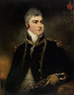 Captain Sir Charles Hamilton by William Beechey - print