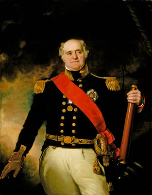 Sir Thomas Masterman Hardy, Vice-Admiral of the Blue (1769-1839) Wall Art & Canvas Prints by Richard Evans