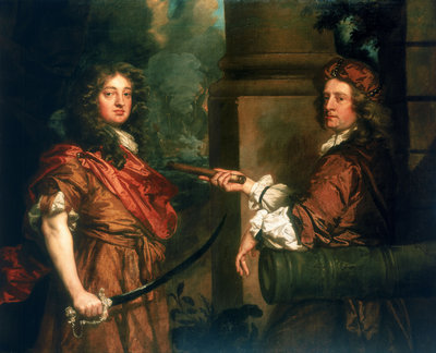 Sir Frescheville Holles and Sir Robert Holmes (1641-1672) by Peter Lely - print