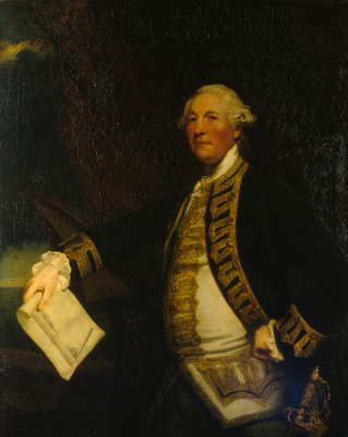 Commodore Sir William James (1721-1783) by Joshua Reynolds - print