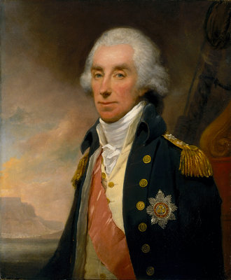 Admiral Lord George Keith Elphinstone, 1st Viscount Keith (1746-1823) by William Owen - print