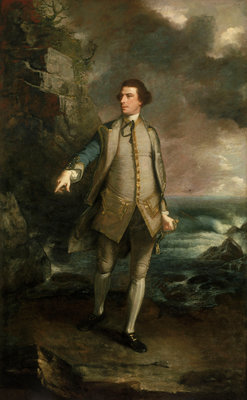 Captain The Honourable Augustus Keppel (1725-1786) by Joshua Reynolds - print