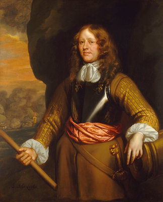 Flagmen of Lowestoft: Admiral Sir John Lawson (d.1665) by Peter Lely - print