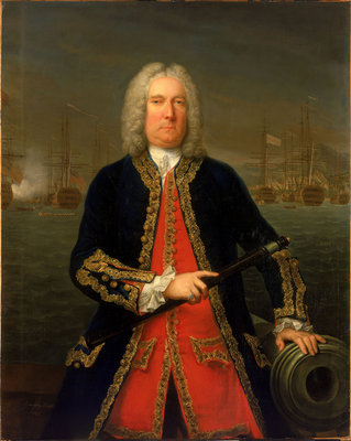 Admiral Thomas Mathews (1676-1751) by Claude Arnulphy - print