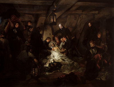 The death of Nelson, 21 October 1805 by Arthur William Devis - print