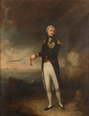 Vice-Admiral Horatio Nelson, 1st Viscount Nelson (1758-1805) by John Rising - print