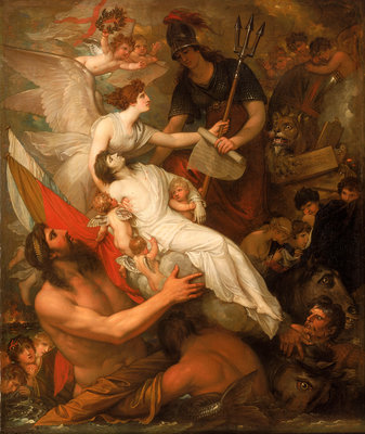 The immortality of Nelson by Benjamin West - print