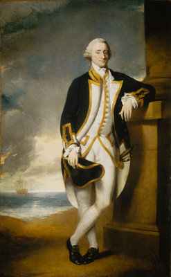 Captain Hugh Palliser (1723-1796) by George Dance - print