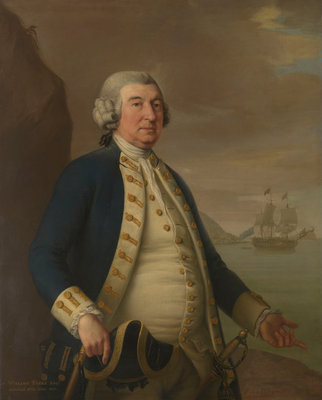 Admiral William Parry (1705-1779) by John Francis Rigaud - print