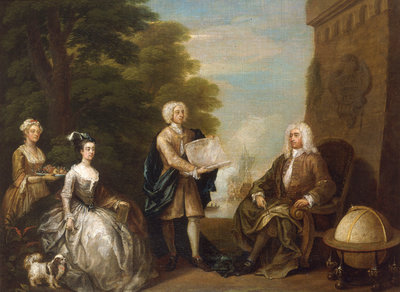 Woodes Rogers and his family by William Hogarth - print