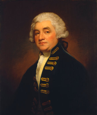 Vice-Admiral Sir Joshua Rowley (1734-1790) by George Romney - print