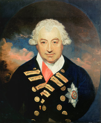 Rear-Admiral Sir John Jervis, 1st Earl of St Vincent (1735-1823) by William Beechey - print