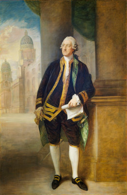 John Montagu, 4th Earl of Sandwich, 1st Lord of the Admiralty (1718-1792) by Thomas Gainsborough - print