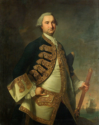 Rear-Admiral Richard Tyrrell (1716/7-1766) by Thomas Hudson - print