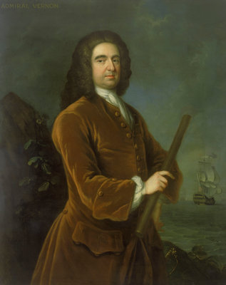 Admiral Edward Vernon (1684-1757) by Charles Philips - print