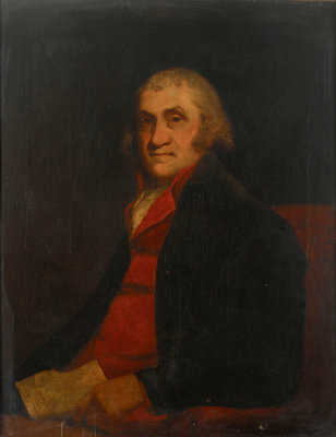 Formerly called 'James Watt (1736-1819)' by William Beechey - print