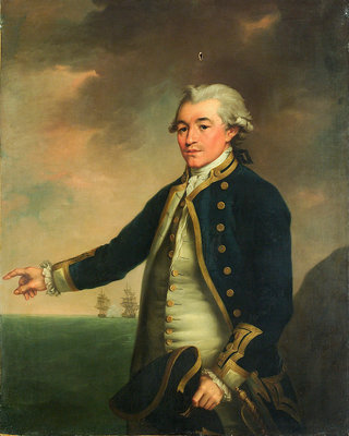 Portrait of Captain Peacock by John Francis Rigaud - print
