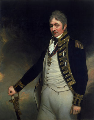 Rear-Admiral Sir Thomas Troubridge (circa 1758-1807) by William Beechey - print