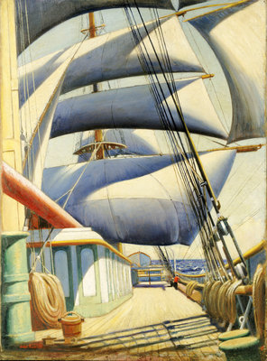 A view of the 'Endymion' aft in fair weather by John Everett - print