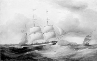 The barque 'Helvellin' (1826) by Samuel Walters - print