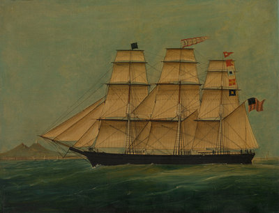 The ship J. P. Witney by American School - print