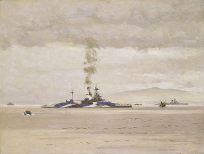 HMS 'Malaya' by Norman Wilkinson - print