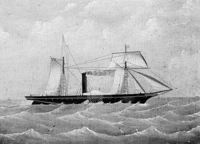 The steamship 'Moselle' (1852) by British School - print