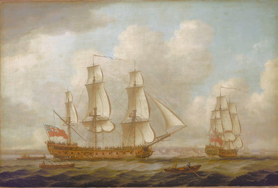 The East Indiaman 'Princess Royal' by John Cleveley, the Elder - print