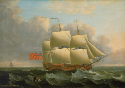 The 'Royal Caroline' by John Cleveley, the Elder - print