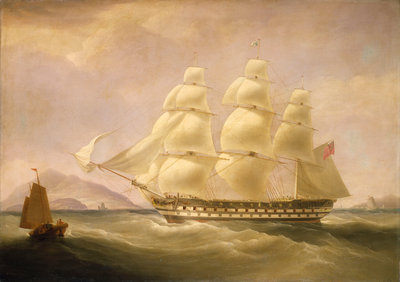 The East Indiaman 'Triton' by William John Huggins - print