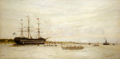 A regatta off HMS 'Worcester' by Charles William Wyllie - print