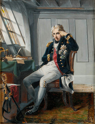 Viscount Horatio Nelson (1758-1805), before the Battle of Trafalgar, 21 October 1805 by George Lucy Good - print