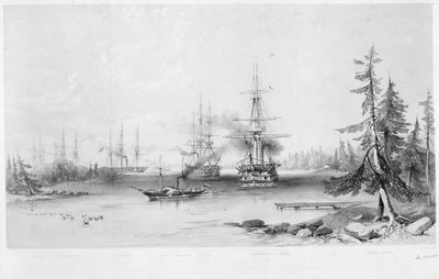 The English and French Fleets in the Baltic, 1854 by Jonathan Needham - print