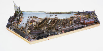 Topographic model, Denny's shipyard, Dumbarton by Michael K. Buxton - print